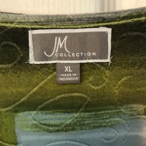 JM Collection Tops - JM Collection by Macy's gray & lime tunic
